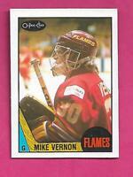 1987-88 OPC # 215 FLAMES MIKE VERNON ROOKIE NRMT-MT  CARD (INV# D0607)