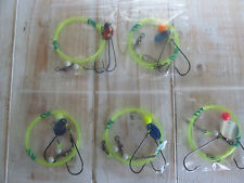 Sea fishing Rigs x 5: Pulleys Pennels - HIgh Quality Hand Tied Sea Rigs
