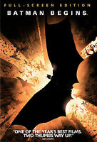 Batman Begins DVD FS Christian Bale, Christopher Nolan - NEW