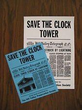 "Back to the Future - Save the Clock Tower Flyer 8.5""x11"" and poster 11""x15.5"""
