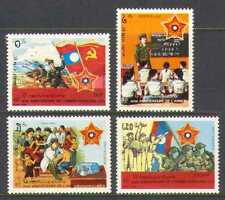Laos 1989 Esercito 40th/serbatoio/Barca/Medico Set 4 V (n21163)