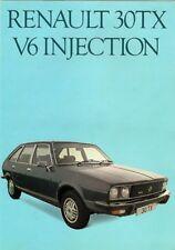 Renault 30 TX 1979 UK Market Foldout Sales Brochure