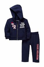 NEW TRUE RELIGION BABY BOYS OUTFIT 2PC GIFT SET HOODIE SWEATPANTS TRACKSUIT 12M
