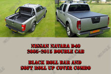 Nissan Navara D40 Black Roll Bar and Soft Bed Cover Combo Package
