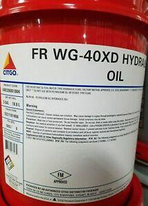 Citgo FR WG-40XD Hydraulic Fluid; water-glycol, fire resistant fluid; 5 gal pail
