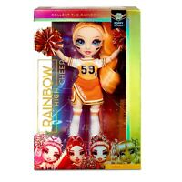 Rainbow High Poppy Rowan Cheerleader DOLL Orange Uniform Pom Poms CHEER SQUAD