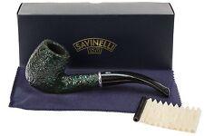 Savinelli Arcobaleno 111 Green Tobacco Pipe - Rustic