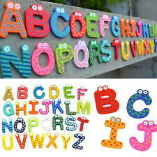 26 Wooden Alphabet Fridge Magnet Educational Study Toy For Kids Baby Children