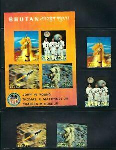 Bhutan , Space , Apollo 16 , 3d , UNUSUAL