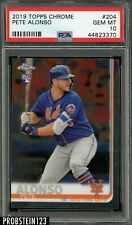 2019 Topps Chrome #204 Pete Alonso RC Rookie Mets PSA 10 GEM MINT