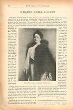 Portrait Mme Emile Loubet de Jean Patricot Collection particulière GRAVURE 1902
