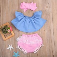 Newborn Baby Girls Outfit Clothes T-shirt Tops+Pants Shorts Skirt Clothes Set