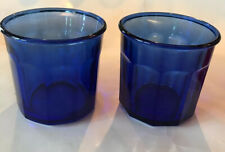 Luminarc 500 Working Glass Tumblers  Set of 2 Made In France 14 oz Cobalt Glass
