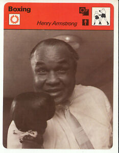 HENRY ARMSTRONG American Boxing Champion 1977 SPORTSCASTER CARD 15-14