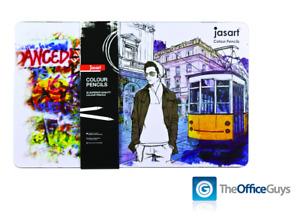 Jasart® Premium Art Colour Pencils Assorted Designer Tin of 36 FREE Delivery