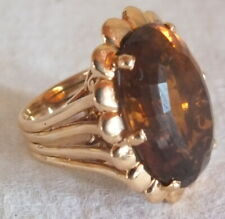 bague cocktail or citrine madère