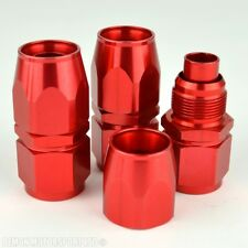 AN 10 Straight Hose Fitting Red Forged (3 Pack) For Oil Cooler Hose Line