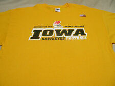 IOWA HAWKEYES - NCAA/FBS/BIG 10 - YELLOW - 2010 INSIGHT BOWL - 3XL SIZE T SHIRT!