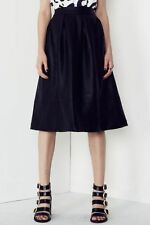 Faux Leather A-Line Solid Skirts for Women