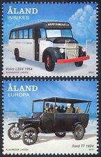 Aland 2012 Bus/Buses/Volvo/Ford TT/Coach/Transport/Motoring 2v set (n41605)