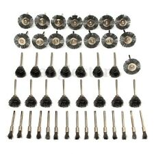 Mohoo 45PCS Steel Wire Wheel Brushes Set Kit Rotary Tools Accessories