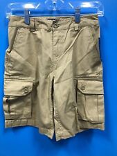 Polo Ralph Lauren 100% Cotton Tan Chino Cargo Shorts, Size 12, E-1-0095