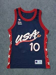 Champion USA 1996 Basketball Team Olympic Jersey Reggie Miller #10 Size 40