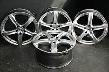 4 CERCHI IN LEGA AEZ YACHT high-gloss 8x18 et 35 LK 5x112 rdks anelli di centraggio