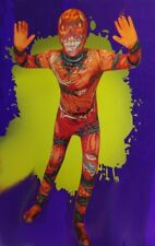 Boys BODYSUIT Pumpkin Calabaza Scary Halloween Purim Costume Medium 8 10 NEW