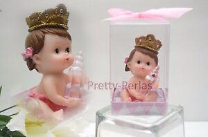 1PC Baby Shower Cake Topper Figurines Girl Pink Recuerdos De Nina Decorations