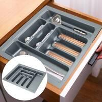Cutlery Tray Insert Kitchen Drawer Plastic Rack Holder Organizer utensil Storage