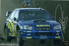 "Petter Solberg World Rally Champion 03 SUBARU IMPREZA HAND SIGNED PHOTO 12x8"" CD"