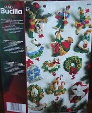 BUCILLA FELT JEWELED CHRISTMAS ORNAMENTS KIT PARTRIDGE IN A PEAR TREE 12 DAYS
