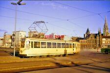 PHOTO  BELGIAN TRAM - 1964 SNCV BELGIAN COASTAL TRAM IN THE CITY