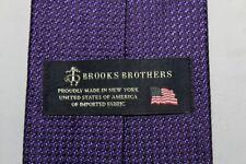 BROOKS BROTHERS Made in New York Purple Narrow Silk Tie