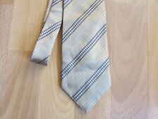 TED Baker Endurance Gold Coloured Striped 100% Silk Tie