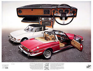 Rare Triumph Stag signed limited edition print -– the best out there.