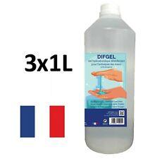 Désinfectant hydro-alcoolique mains DIFGEL 1L - Lot de 3 bouteilles [🇫🇷]