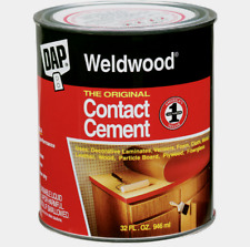 New! DAP WELDWOOD High Strength Rubber The Original CONTACT CEMENT 1 Quart 00272