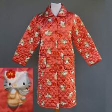 Hello Kitty Pink Satin Quilted Bath Robe House Coat Button Front Size S M
