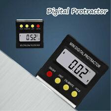 4x90° Calibrador de Inclinómetro de Nivel Magnético Digital Protractor Level Box