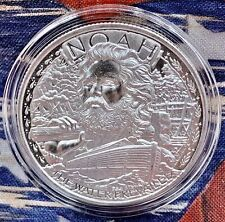 Noah's Ark 1 Oz Silver Round Bible Jesus God Flood BU Two by Two in Capsule