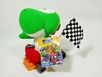 "Super Mario Kart YOSHI Yossy Flag Plush Toy Banpresto 1993 Nintendo Japan TAG 5"""