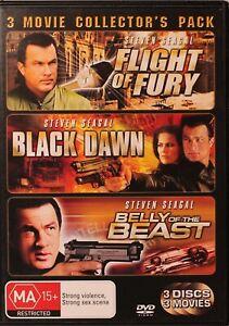 Flight of Fury / Black Dawn / Belly Of The Beast DVD - Steven Segal - Free Post