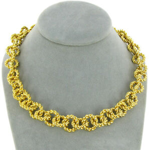 High Quality Gold Tone Chain Linked with Toggle Simulated Blue Gem Necklace