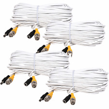 4X 50Ft BNC video power cable security camera CCTV DVR surveillance wire cord
