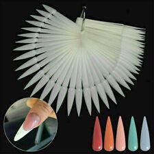 Nail Swatches Nail False Display Nail Art Fan Wheel Polish Practice Tips Sticks