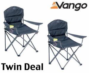 2 x Vango Samson BIG BOY Oversize Chair Excalabur Max load 180kg
