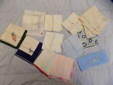 Vintage 12 Piece Mixed Lot Silk Cotton Linen Muslin Handkerchief Hankie