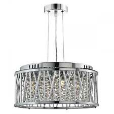 SEARCHLIGHT ELISE 4 LIGHT CRYSTAL CEILING PENDANT IN CHROME FINISH 8334-4CC
